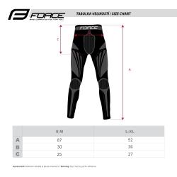 Kalhoty/funkční prádlo FORCE FROST   černé obr.[3]