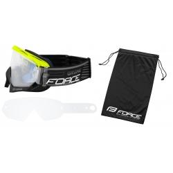 Brýle Force GRIME sjezdové černo-fluo | čiré sklo obr.[3]