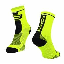Ponožky Force Long | fluo-černé obr.[1]