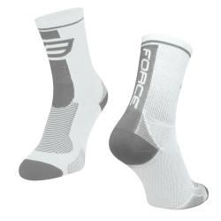 ponožky FORCE LONG, bílo-šedé S-M obr.[1]