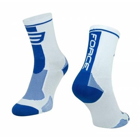 ponožky FORCE LONG, bílo-modré S-M obr.[1]
