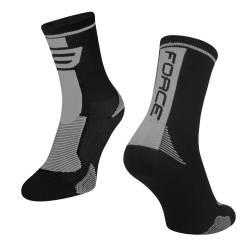 ponožky FORCE LONG, černo-šedé S-M obr.[1]