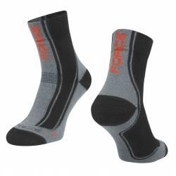 Ponožky FORCE FREEZE | černo-šedo-červené obr.[1]