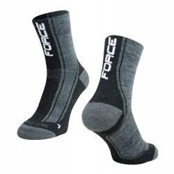 ponožky FORCE FREEZE | šedo-černo-bílé obr.[1]