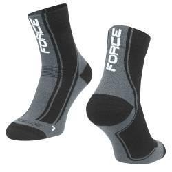 Ponožky FORCE FREEZE | černo-šedo-bílé obr.[1]