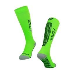 Ponožky FORCE TESSERA KOMPRESNÍ | širší W | zelené obr.[1]