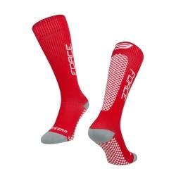 Ponožky FORCE TESSERA KOMPRESNÍ | červené obr.[1]
