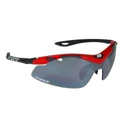 Brýle Force DUKE červeno-černé | černá laser skla obr.[1]
