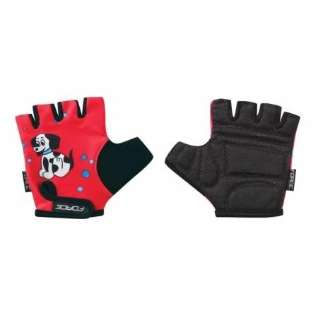 Dětské rukavice KID | červené-pejsek obr.[1]