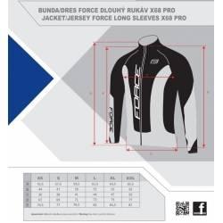 Bunda Force dlouhý rukáv X68 PRO | černo-bílá obr.[6]