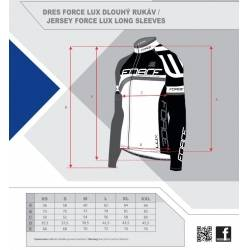 Dres Force LUX dlouhý rukáv   černo-bílý obr.[5]