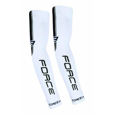 Návleky na ruce Force pletené | bílé obr.[1]