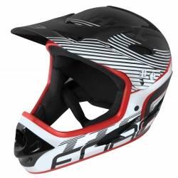 Přilba Force TIGER downhill | černo-bílo-červená obr.[1]