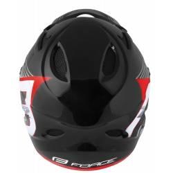Přilba Force TIGER downhill | černo-bílo-červená obr.[3]