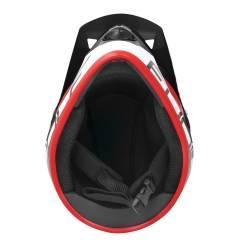 Přilba Force TIGER downhill | černo-bílo-červená obr.[4]