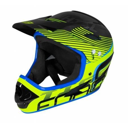 Přilba Force TIGER downhill | černo-fluo-modrá obr.[1]