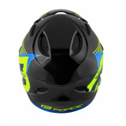 Přilba Force TIGER downhill | černo-fluo-modrá obr.[3]