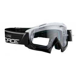 Brýle Force GRIME sjezdové bílo-černé | čiré sklo obr.[1]