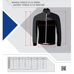 Bunda Force X110 zimní | černo-šedo-fluo obr.[3]
