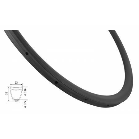 Ráfek silniční galuskový KARBON 33mm | 20děr obr.[1]