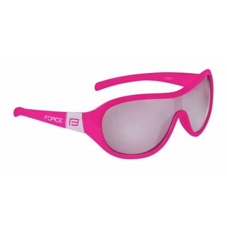 Brýle FORCE POKEY dětské | růžovo-bílé | černá skla obr.[1]