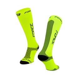 Ponožky Force ATHLETIC PRO KOMPRES | fluo-černé obr.[1]