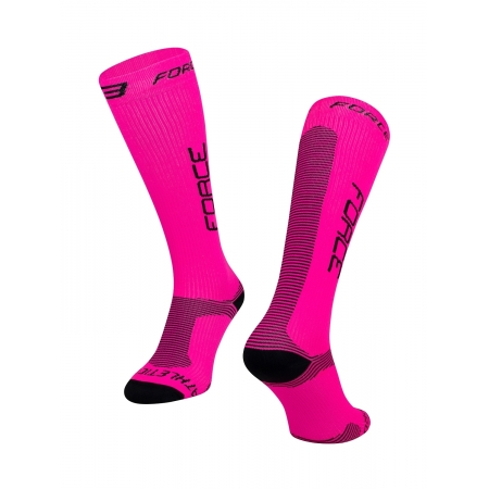 Ponožky Force ATHLETIC PRO KOMPRES | růžovo-černé obr.[1]