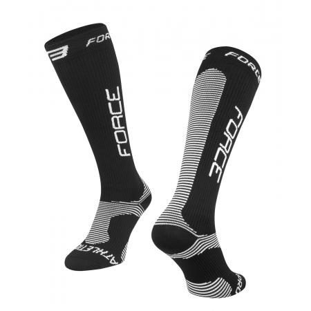 Ponožky Force ATHLETIC PRO KOMPRES   černo-bílé obr.[1]