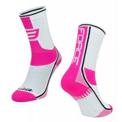 Ponožky Force Long Plus | růžovo-černo-bílé obr.[1]