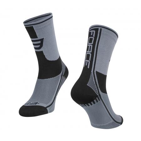 Ponožky Force Long Plus | šedo-černé obr.[1]