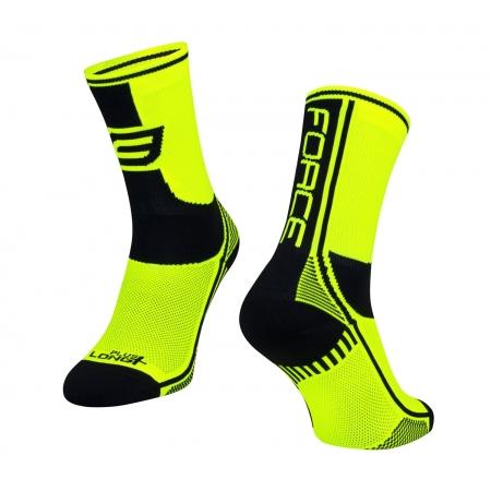 Ponožky Force Long Plus | fluo-černé obr.[1]