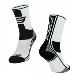 Ponožky Force Long Plus   bílo-černé obr.[1]