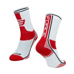 Ponožky Force Long Plus | červeno-černo-bílé obr.[1]