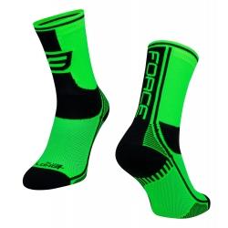 Ponožky Force Long Plus | zeleno-černo-bílé obr.[1]