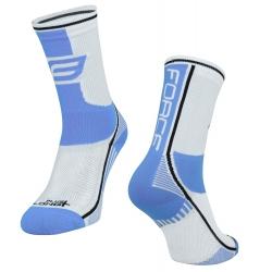 Ponožky Force Long Plus | světlemodro-bílé obr.[1]