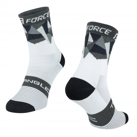 Ponožky Force Triangle | bílo-šedo-černé obr.[1]