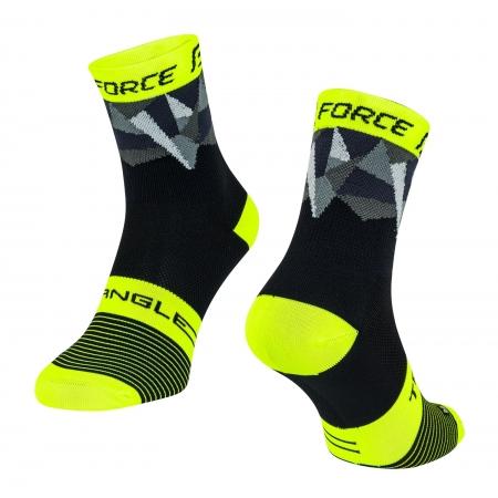 Ponožky Force Triangle | černo-fluo-šedé obr.[1]