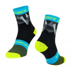 Ponožky Force Triangle | černo-fluo-modré obr.[1]