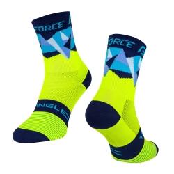 Ponožky Force Triangle | fluo-modré obr.[1]