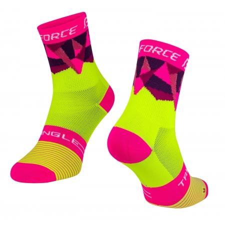 Ponožky Force Triangle | fluo-růžové obr.[1]
