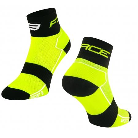 Ponožky Force Sport 3 | fluo-černé obr.[1]