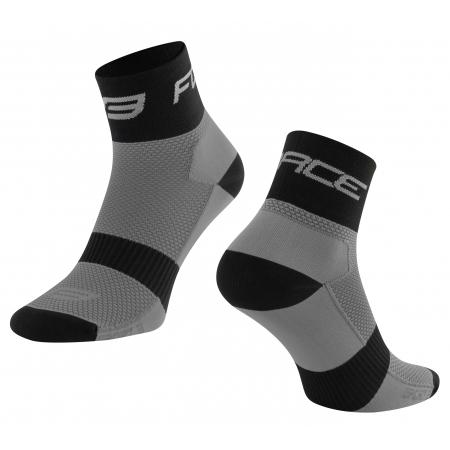 Ponožky Force Sport 3 | šedo-černé obr.[1]