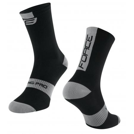 Ponožky Force Long Pro | černo-šedé obr.[1]