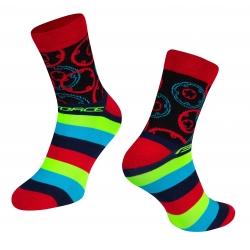 Ponožky Force Sprocket | červené obr.[1]