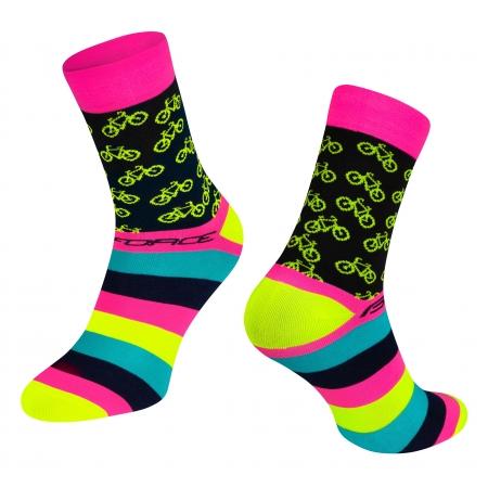 Ponožky Force Cycle | růžové obr.[1]
