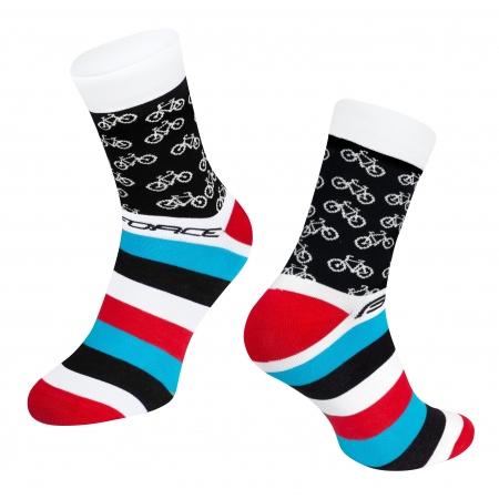 Ponožky Force Cycle | bílé obr.[1]