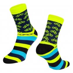Ponožky Force Cycle | žluté obr.[1]