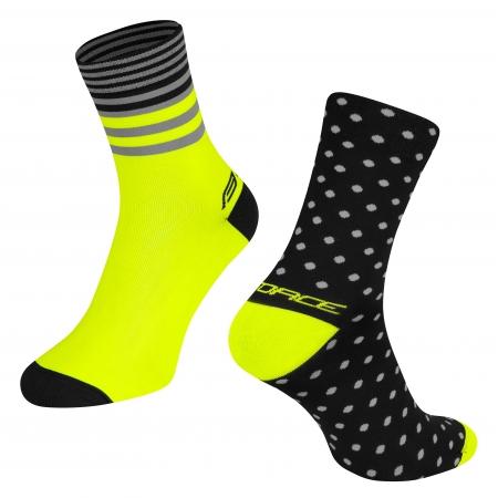 Ponožky Force Spot | černo-fluo obr.[1]