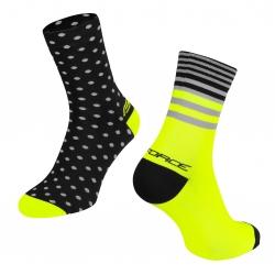 Ponožky Force Spot | černo-fluo obr.[2]