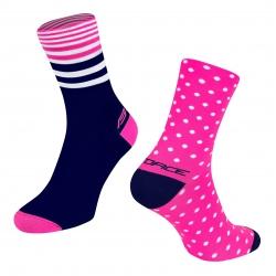 Ponožky Force Spot | růžovo-modré obr.[1]